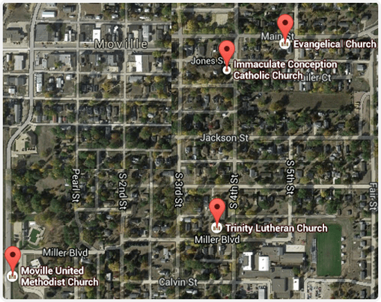 Churches Attractions Moville Iowa